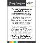 Clear Photopolymer Stamp Set - Christmas Wishes