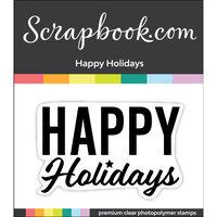 Scrapbook.com - Clear Photopolymer Stamp Set - Happy Holidays
