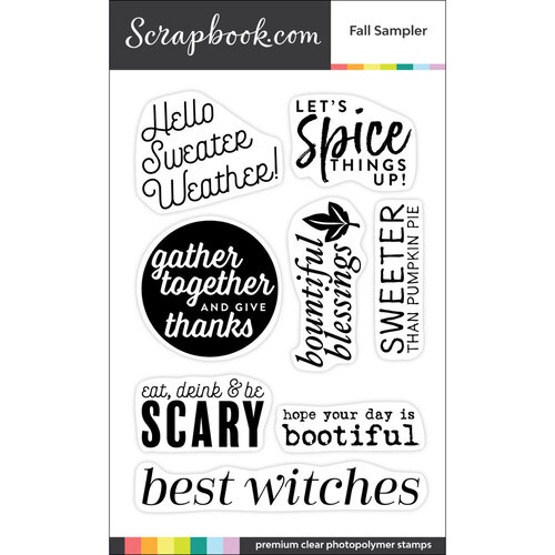 Scrapbook.com - Clear Photopolymer Stamp Set - Fall Sampler