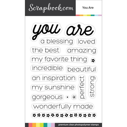 Scrapbook.com - Clear Photopolymer Stamp Set - You Are