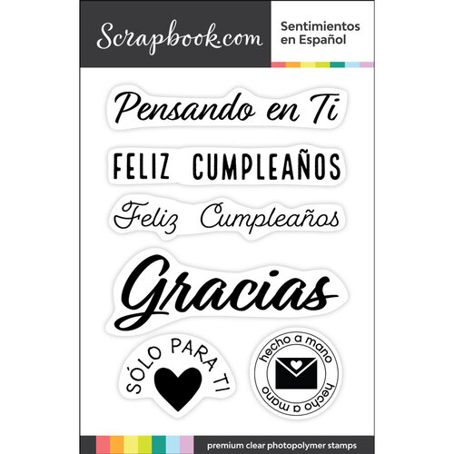 Clear Photopolymer Designer Stamps - Sentimientos en Espanol