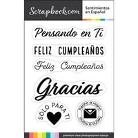 Scrapbook.com - Clear Photopolymer Stamp Set - Sentimientos en Espanol