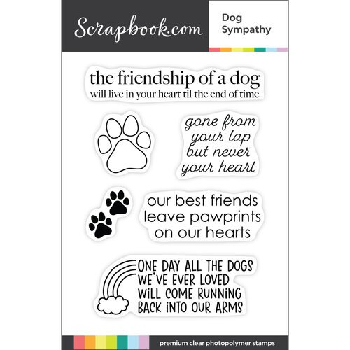 Scrapbook.com - Clear Photopolymer Stamp Set - Dog Sympathy
