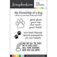 Scrapbook.com - Clear Photopolymer Stamp Set - Dog Sympathy