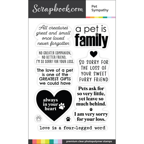 Scrapbook.com - Clear Photopolymer Stamp Set - Pet Sympathy