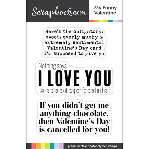 Scrapbook.com - Clear Photopolymer Stamp Set - My Funny Valentine