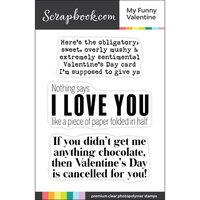 Clear Photopolymer Designer Stamps - My Funny Valentine Sentiments