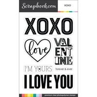 Scrapbook.com - Clear Photopolymer Stamp Set - XOXO