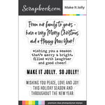 Scrapbook.com - Clear Photopolymer Stamp Set - Make it Jolly