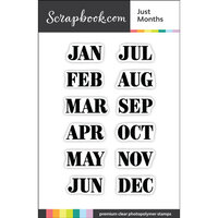 Scrapbook.com - Clear Photopolymer Stamp Set - Just Months