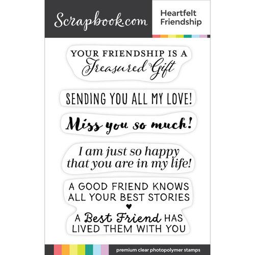 Scrapbook.com - Clear Photopolymer Stamp Set - Heartfelt Friendship