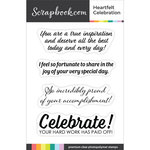Clear Photopolymer Stamp Set - Heartfelt Celebration