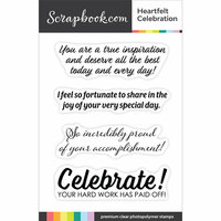 Scrapbook.com - Clear Photopolymer Stamp Set - Heartfelt Celebration