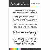 Scrapbook.com - Clear Photopolymer Stamp Set - Hello Baby
