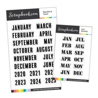 Scrapbook.com - Clear Photopolymer Stamp Set - Planner Date Bundle