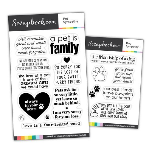 Scrapbook.com - Clear Photopolymer Stamp Set - Pet Sympathy Bundle