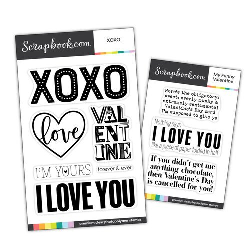 Scrapbook.com - Clear Photopolymer Stamp Set - Valentine Bundle