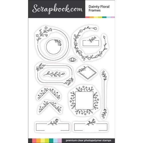 Scrapbook.com - Clear Photopolymer Stamp Set - Dainty Floral Frames