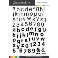 Scrapbook.com - Clear Photopolymer Stamp Set - Subway Lowercase