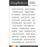 Scrapbook.com - Clear Photopolymer Stamp Set - Wordfetti December
