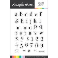 Scrapbook.com - Clear Photopolymer Stamp Set - Classic Alpha Lower