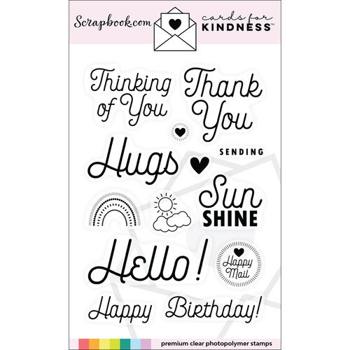 Scrapbook.com - Clear Photopolymer Stamp Set - Cards for Kindness