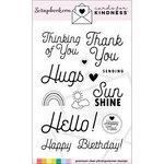Scrapbook.com - Clear Photopolymer Stamp Set - Cards for Kindness