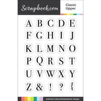 Scrapbook.com - Clear Photopolymer Stamp Set - Classic Alpha Upper
