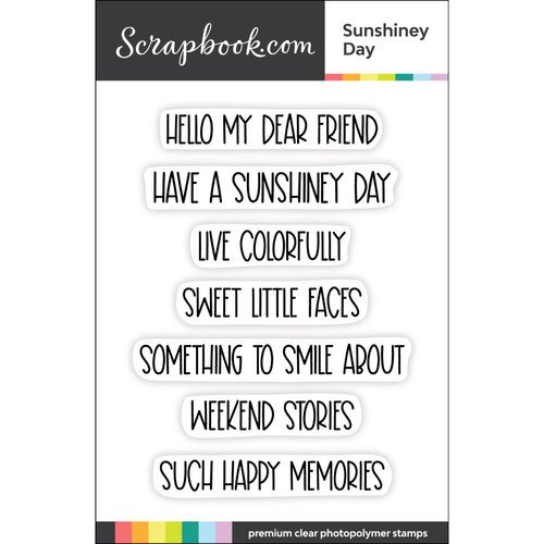 Scrapbook.com - Clear Photopolymer Stamp Set - Sunshiney Day
