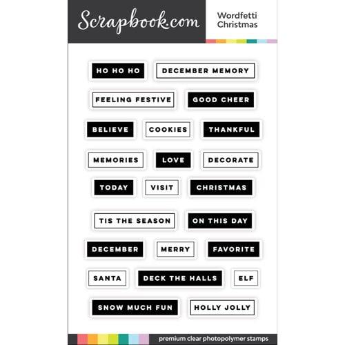 Scrapbook - Clear Photopolymer Stamp Set - Wordfetti Christmas