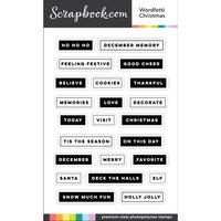 Scrapbook.com - Clear Photopolymer Stamp Set - Wordfetti Christmas