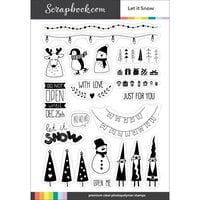 Scrapbook.com - Clear Photopolymer Stamp Set - Let it Snow