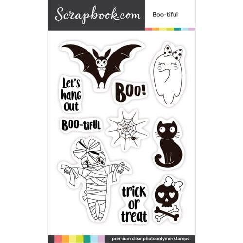 Scrapbook.com - Clear Photopolymer Stamp Set - Boo-tiful
