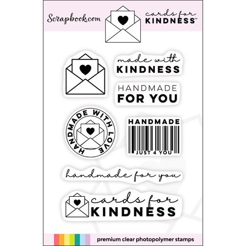 Scrapbook.com - Clear Photopolymer Stamp Set - Cards for Kindness Mini