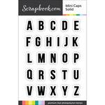 Scrapbook.com - Clear Photopolymer Stamp Set - Mini Caps - Solid