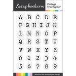 Scrapbook.com - Clear Photopolymer Stamp Set - Vintage Type Upper