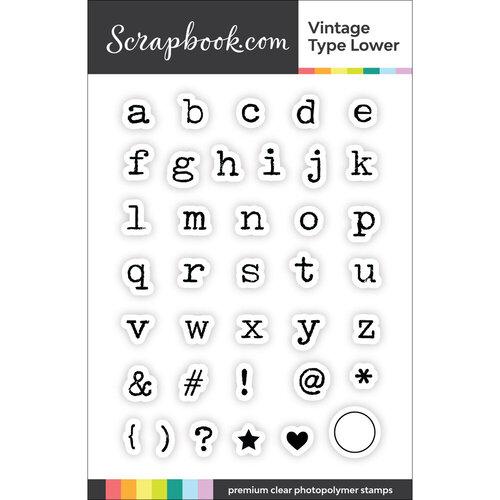 Scrapbook.com - Clear Photopolymer Stamp Set - Vintage Type Lower
