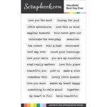 Scrapbook.com - Clear Photopolymer Stamp Set - Wordfetti - Best Day Ever