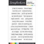 Scrapbook.com - Clear Photopolymer Stamp Set - Wordfetti - Oh So Happy