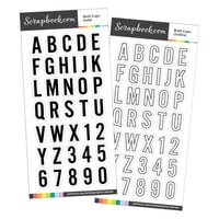 Scrapbook.com - Clear Photopolymer Stamp Set - Bold Caps Bundle