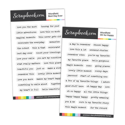 Scrapbook.com - Clear Photopolymer Stamp Set - Wordfetti Bundle