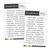 Scrapbook.com - Clear Photopolymer Stamp Set - Wordfetti Bundle