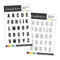 Scrapbook.com - Clear Photopolymer Stamp Set - Mini Caps Bundle