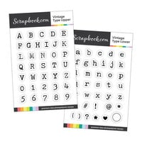 Scrapbook.com - Clear Photopolymer Stamp Set - Vintage Type Bundle