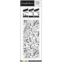 Scrapbook.com - Clear Photopolymer Stamp Set - Slimline Christmas Foliage