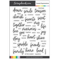 Scrapbook.com - Clear Photopolymer Stamp Set - Sweet Expressions