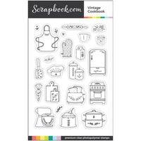 Scrapbook.com - Clear Photopolymer Stamp Set - Vintage Cookbook