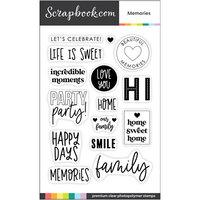 Scrapbook.com - Clear Photopolymer Stamp Set - Memories
