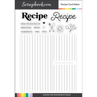 Scrapbook.com - Clear Photopolymer Stamp Set - Recipe Card Maker