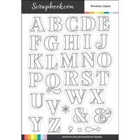 Scrapbook.com - Clear Photopolymer Stamp Set - Brooklyn Upper